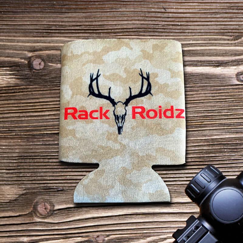 Rack Roidz logo beverage coozy